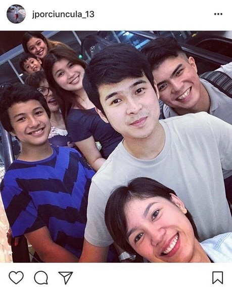 Jerome Ponce with his good-looking brothers