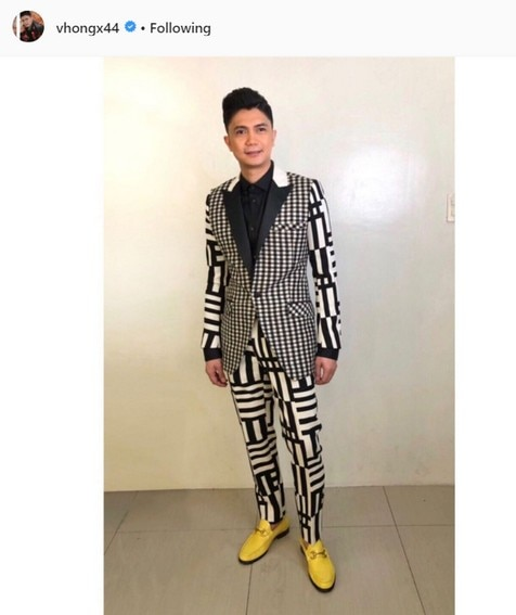 Vhong Navarro yellow shoes