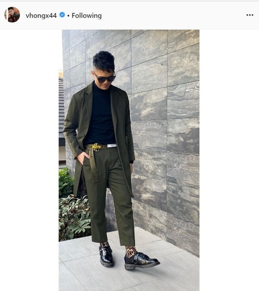 Vhong Navarro dark green suit
