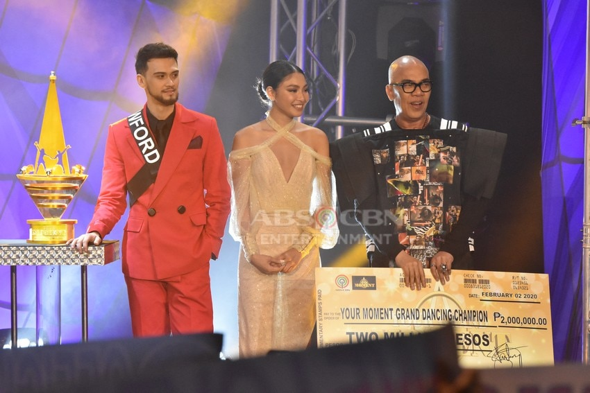 Your Moment Grand Moment Judges Boy Abunda, Billy Crawford and Nadine Lustre