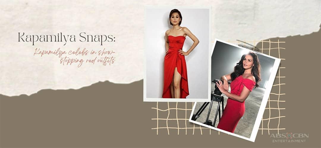 Kapamilya Snaps: Stunning Kapamilya celebs in show-stopping red outfits