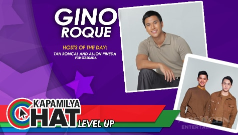 Kapamilya Chat Level Up with Gino Roque and hosts of the day, Tan Roncal and Aljon Mendoza