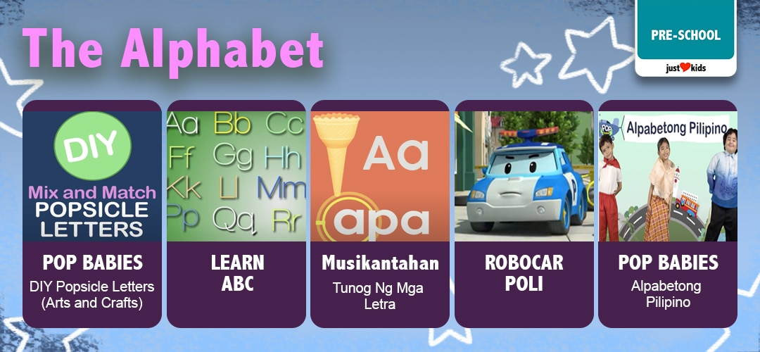 Here's a fun playlist to start learning the alphabet!