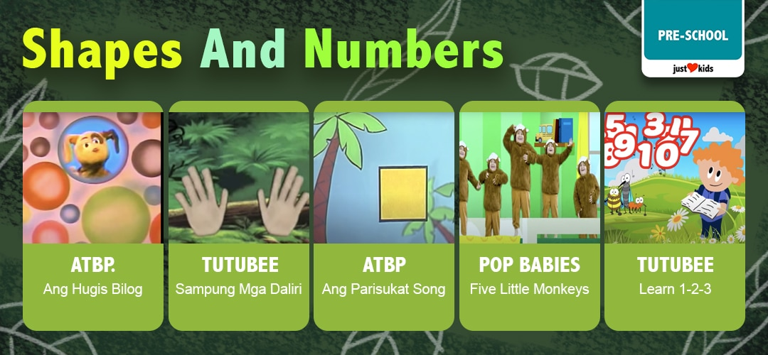 This week, let's teach our preschoolers how to recognize and compare shapes and numbers!