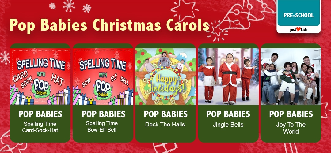 Celebrate the season with songs! Here's a playlist of the classic Christmas carols done the Pop Babies way!