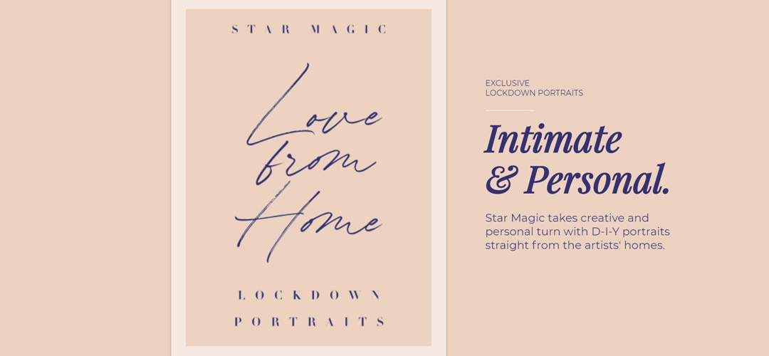 Star Magic Love From Home Lockdown Portraits