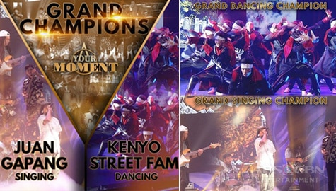 Juan Gapang, Kenyo Street Fam declared Your Moment grand champs