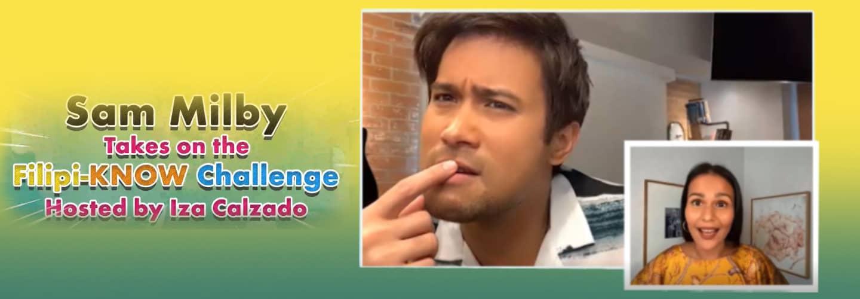 Iza Calzado dares Sam Milby to a Filipino word quiz!