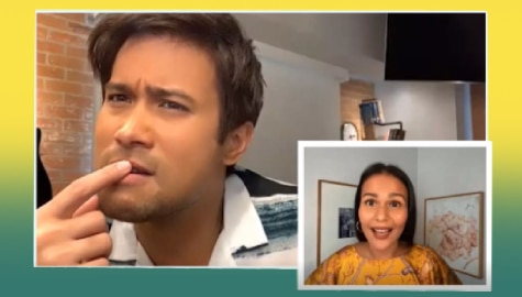 Iza Calzado dares Sam Milby to a Filipino word quiz!