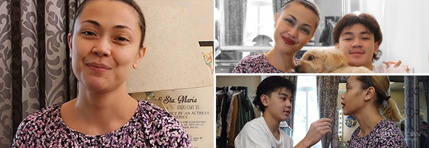 Q & A Make-up Challenge with Jodi Sta Maria and Thirdy
