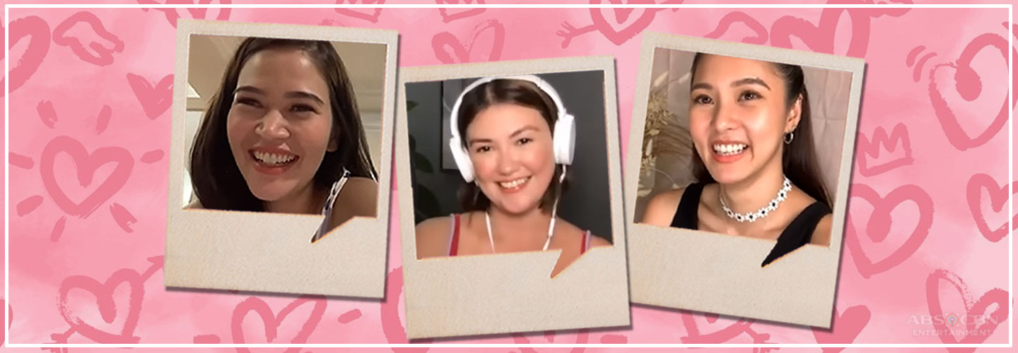 Angelica Panganiban with guests Kim Chiu and Bela Padilla solves netizens' love problems