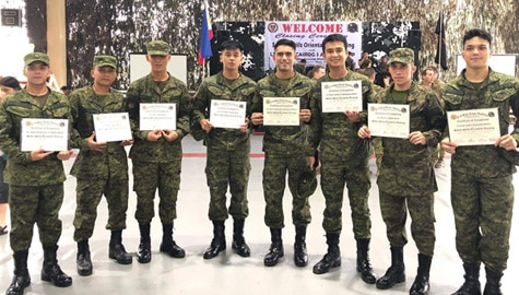 "Kapamilya celebrities who have ""A Soldier's Heart"" as commissioned military reservists"