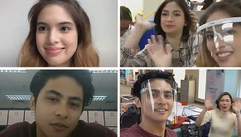 "Kiko Estrada and Michelle Vito tease about ""Bagong Umaga"" and take us to a set tour"
