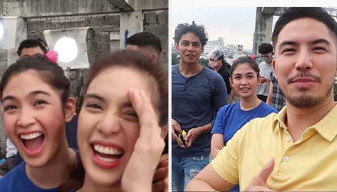 Happy vibes! Heaven Peralejo and Bagong Umaga squad goof around the lock-in set