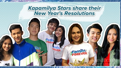 Kapamilya stars share their New Year's Resolution Image Thumbnail