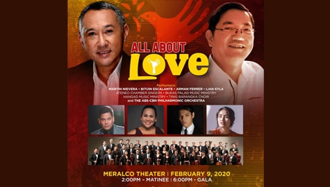"Louie Ocampo and Fr. Manoling Francisco, SJ's ""All About Love"" concert returns with Valentine performance"