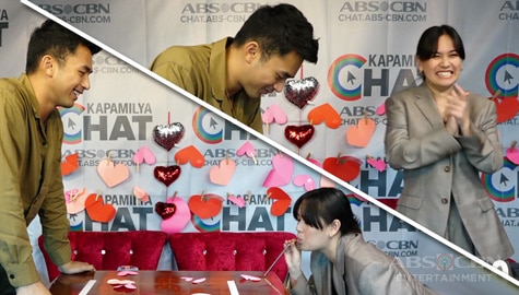 Yen Santos vs Enzo Pineda in Kapamilya Chat's Feb-ibig-themed games