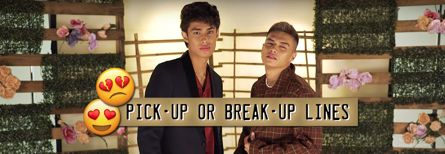 Ronnie Alonte Donny Pangilinan Pick-up Break-up lines