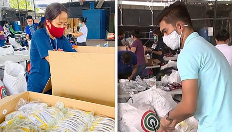 ABS-CBN donates protective gears food to health workers