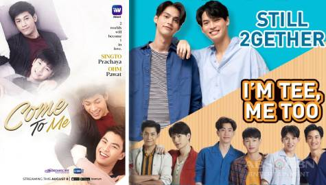 "Filipino-dubbed Thai series ""Still 2gether,"" ""Come To ME,"" and ""I'm Tee Me Too,"" landing soon on iWant"