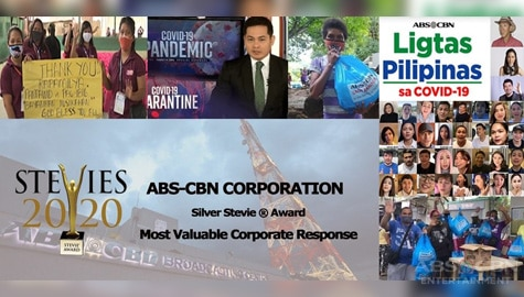 ABS-CBN's COVID-19 response wins a Stevie at the 2020 International Business Awards