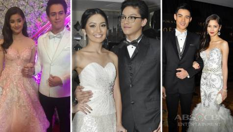 The stunning, stylish red carpet looks of top Kapamilya love teams in Star Magic /ABS-CBN Ball through the years