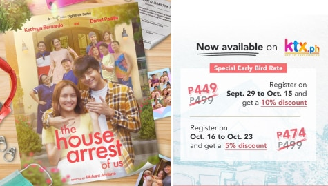 "KathNiel's relationship gets tested in ""The House Arrest Of Us"" on KTX.PH"
