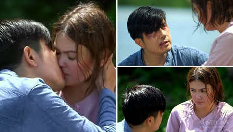 Paulo professes his love to Angelica with a kiss in Walang Hanggang Paalam