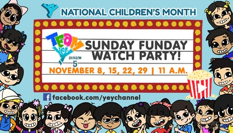 Team YeY launches 'Sunday Funday' watch party on November 8