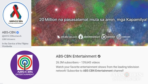 ABS-CBN's Facebook page first to reach 20M likes in PH, YouTube channel most subscribed in PH