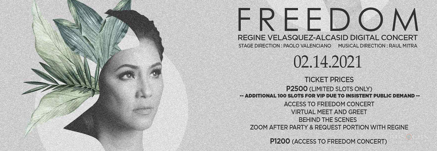 "Tickets for Regine's ""Freedom"" digital concert now up for grabs"