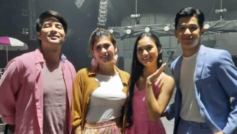 "KarJon share career, relationship tips they learn from ""Hoy Love You"" co-stars Joross Gamboa and Roxanne Guinoo"