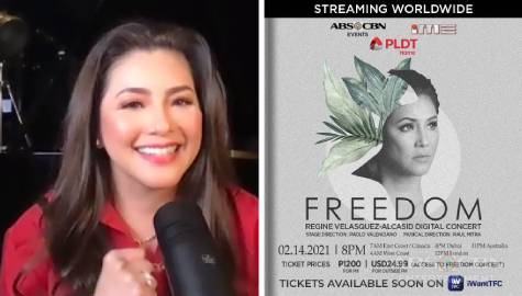"Regine to bring full concert experience in virtual Valentine's show ""Freedom"""