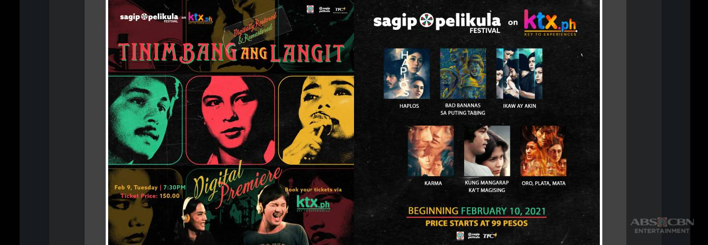 """Tinimbang Ang Langit"" and more titles restored by ABS-CBN to premiere on KTX.ph this February"