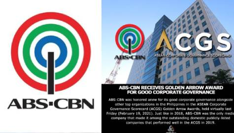 ABS-CBN receives Golden Arrow Award for good corporate governance