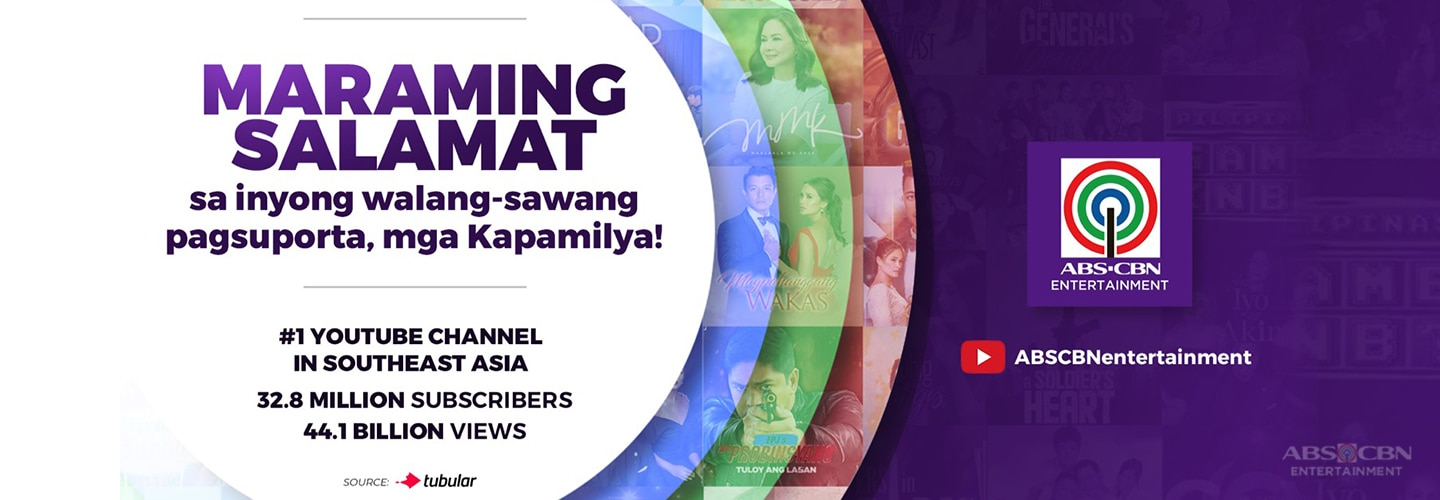 ABS-CBN Entertainment now the most subscribed, most viewed YouTube Channel in Southeast Asia