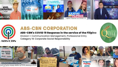 ABS-CBN's COVID-19 response honored at the 18th Philippine Quill Awards