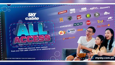 Free cable channel viewing in SkyCable