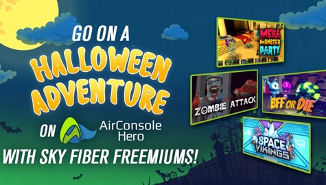 AirConsole games with SKY Fiber