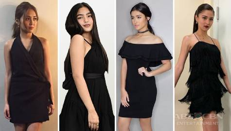 These Kapamilya actresses who are stunningly gorgeous in a little black dress