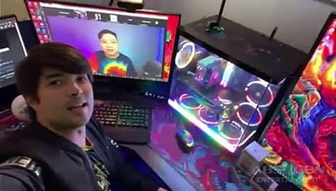 Joross Gamboa's gaming room