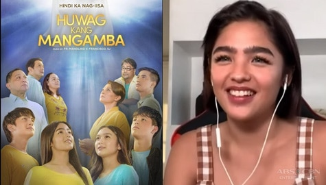 "Andrea Brillantes walks by faith and not by sight in ""Huwag Kang Mangamba,"" talks about working with veterans"