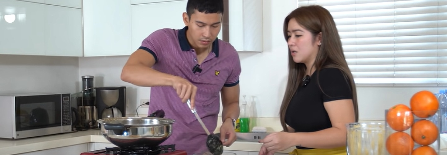Enchong Dee learns recipes from Angeline Quinto, reveals 'what's cooking' on the set of Huwag Kang Mangamba