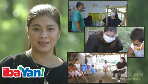 Angel Locsin brings dreams closer to impoverished kids, uplifts plight of school on Iba 'Yan