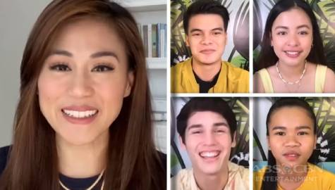 Toni Gonzaga catches up with PBB Connect Big 4 Kobie, Jie-Ann, Andrea and Liofer