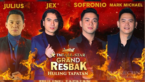 "Jex, Julius, Mark, and Sofronio, go head-to-head in ""Tawag ng Tanghalan"" Grand Resbak Finals"