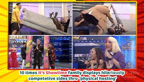 10 moments when hilarious banter turns into wild, funny physical hosting on It's Showtime