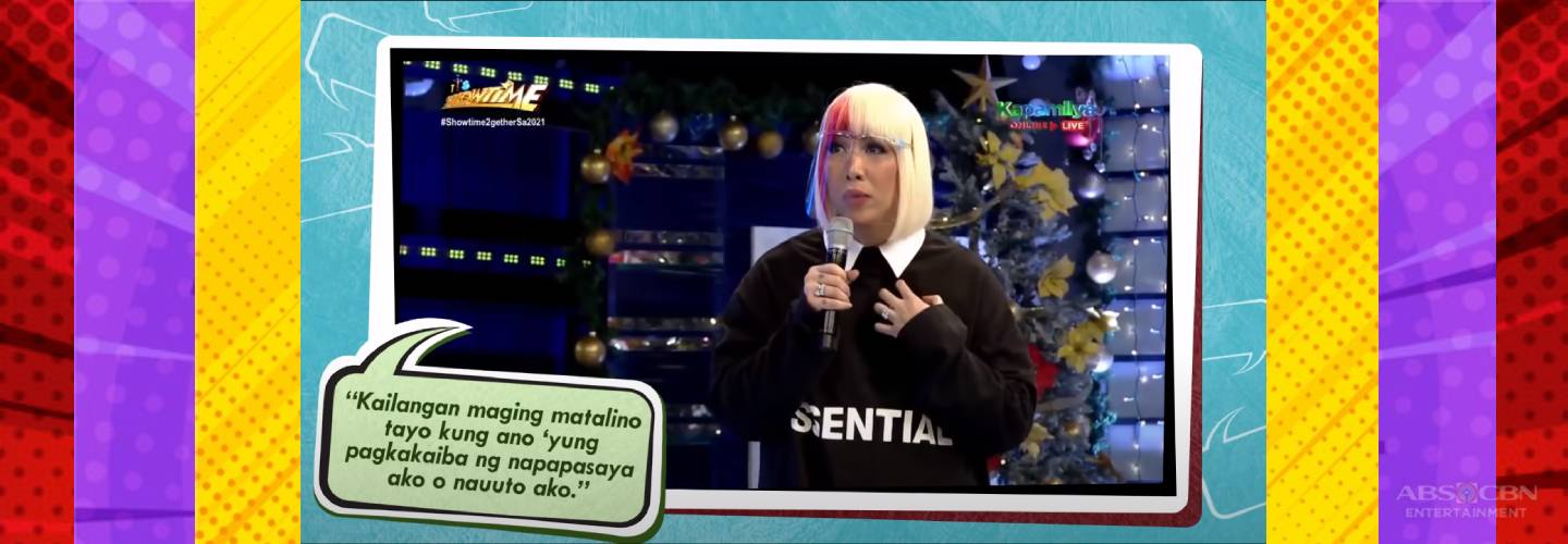 Kapamilya Toplist: Moments Vice Ganda gives thought-provoking, helpful real talk on life, love on It's Showtime
