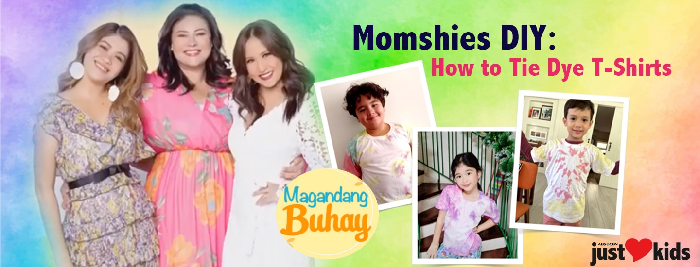 Momshies DIY: How To Tie-Dye Shirts