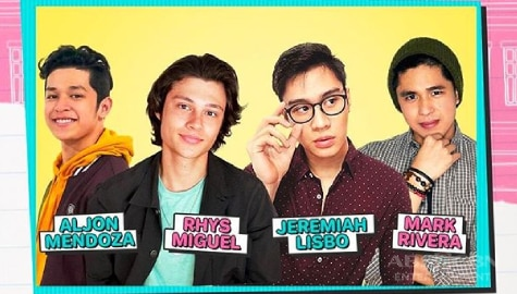 Rhys, Mark, Aljon, Jeremiah reveal first heartbreak, celebrity crushes on Kapamilya Confessions